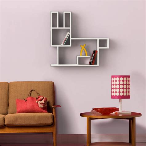 mensole muro di design bunny mensola design a muro in legno per cameretta bambini