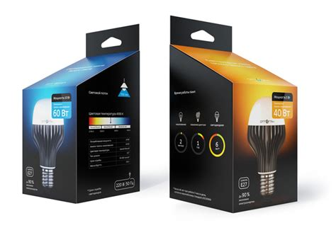 led tv box design packaging for the optogan led lightbulbs