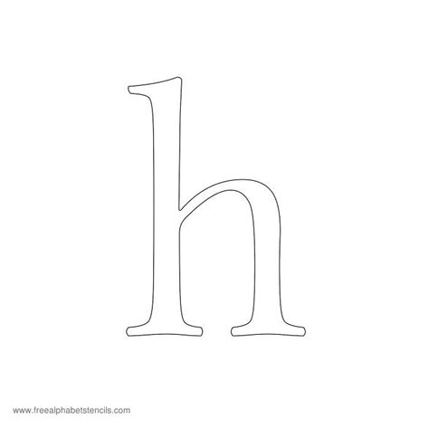 Lowercase Letter H Coloring Page by Uppercase Lowercase Alphabet Stencils
