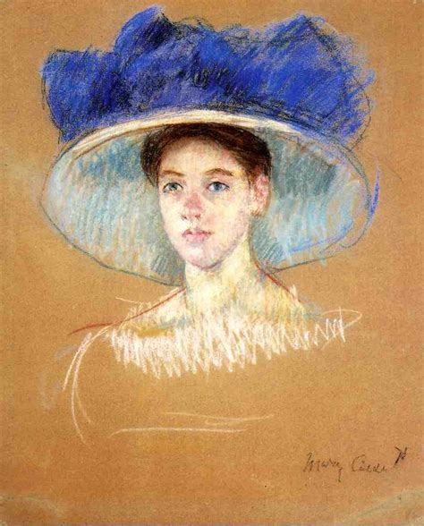 biography of mary cassatt artist woman s head with large hat c 1909 mary cassatt