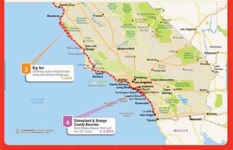 Pch Road Trip Map - map of pacific coast highway 1 pictures to pin on pinterest pinsdaddy