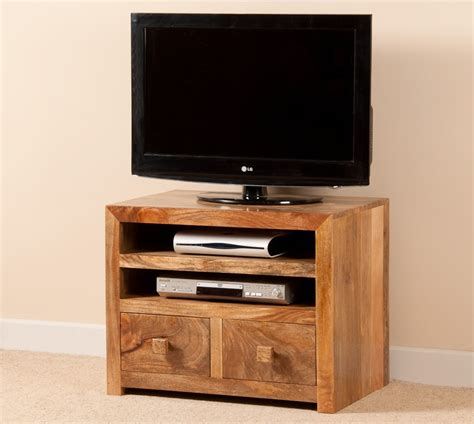 "Mango Indian Wood Small TV Stand   32"" TV Unit   Casa"