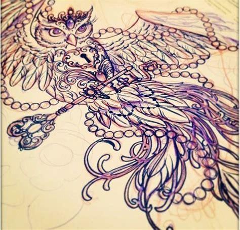 feminine owl tattoo designs owl tattoo tattoos and piercings pinterest