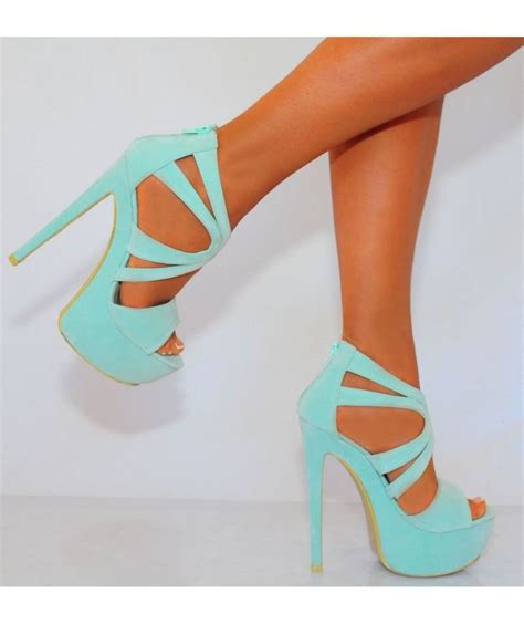 mint colored heels 25 best high heels ideas on black high heels