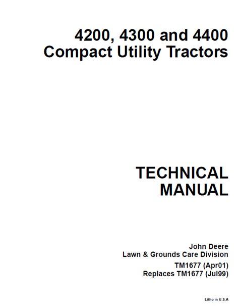 john deere    compact utility tractor service