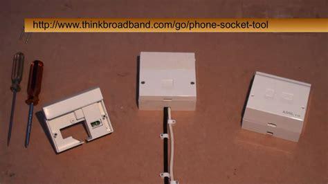 installing the bt i plate on an adsl master socket
