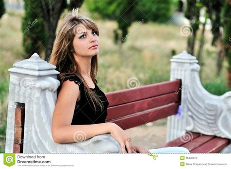 bench girl girl on bench royalty free stock photo image 16432815