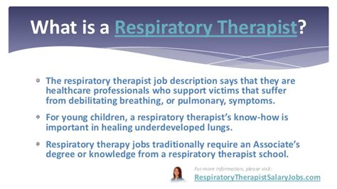 Respiratory Description by Respiratory Therapist Salary