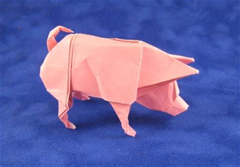 Easy Origami Pig - aep convention 2011 book review gilad s origami page