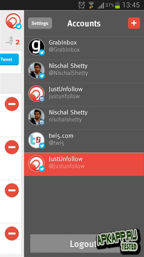 just unfollow apk grow followers justunfollow v1 0 android скачать