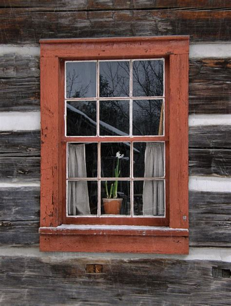 Log Cabin Windows panoramio photo of log cabin window