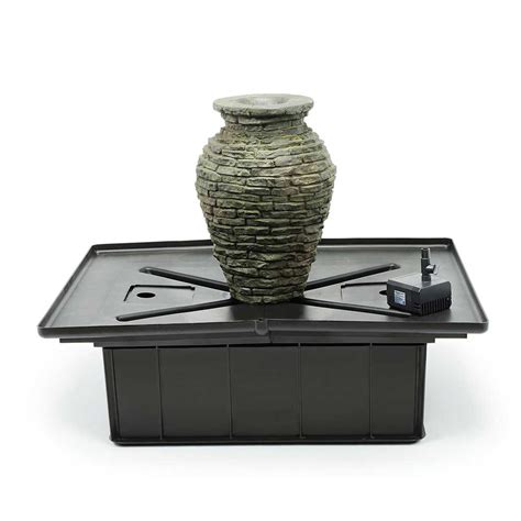 aquascape stacked slate urn mini fountain kit