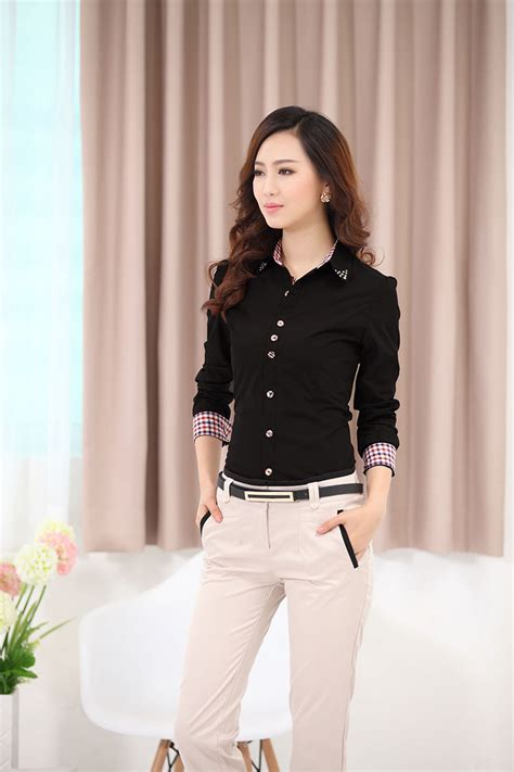 Womens Black Dress Shirt   Cocktail Dresses 2016