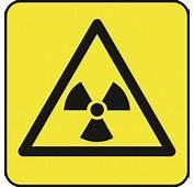 Hazard – Radiation Symbol Yellow Background Sign
