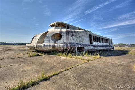 Abandoned Hovercraft Rotting Away on a Disused Florida