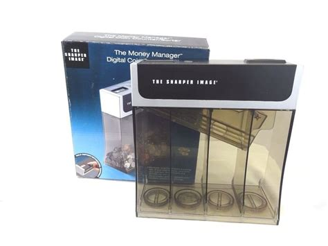 coin sorting piggy bank the sharper image digital coin counter sorter piggy bank
