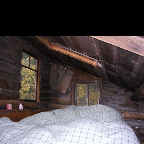 upstairs loft of the unabomber cabin favorite places