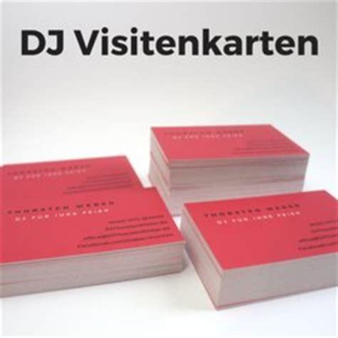 Visitenkarten Selbst Gestalten Und Drucken by Dj Visitenkarten In Einer Stunde Selbst Gestalten Und