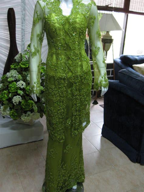 kebaya flk 71 hijau fashionable kebaya laboh