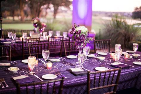 wedding table decorations purple purple such a fabulous colour scheme for a wedding purple or plum works especially well