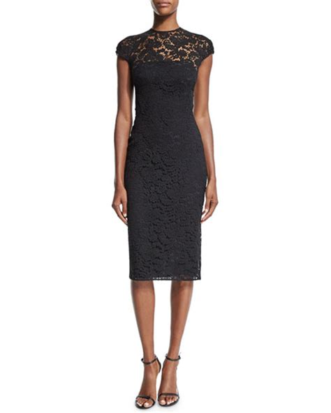 Beckham Sell Outs A Dress Before It Hits The Shop Floor by Beckham Neck Cap Sleeve Lace Dress Black