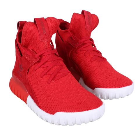 Lacoste Duvet Adidas Shoe Tubular X Primeknit High Top Sneaker Red White