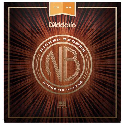 D Addario Nb1256 Nickel Bronze Acoustic Guitar Strings D Addario Light Acoustic Guitar Strings