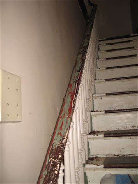 stripping paint from wood banisters the life of a house the banister etc