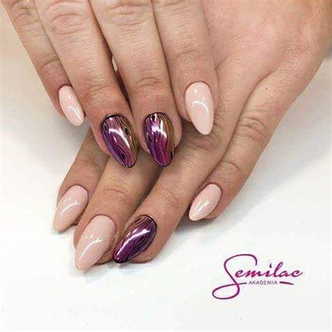 trending metallic nails    hands stunning