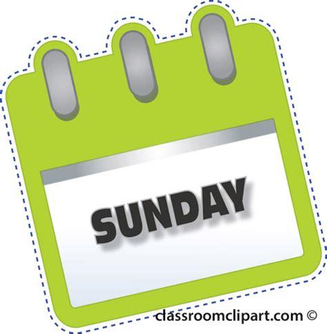 calendar notebook sunday green classroom clipart