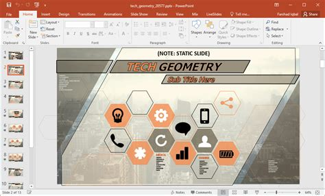 free ppt templates for geometry animated tech geometry powerpoint template