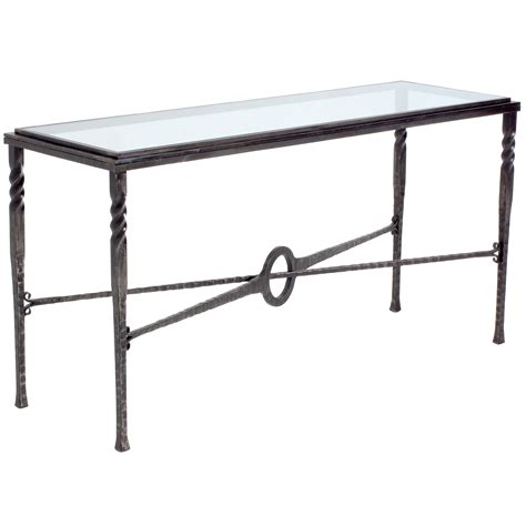 Iron Console Table 60 In Contemporary Omega Console Table W 60 In X D 20 In X H 32 In
