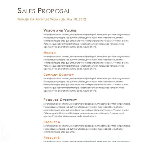 sales proposal exle business proposal templated