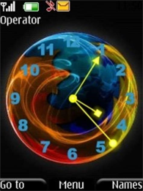 clock themes for mobile phones download free firefox clock s40 mobile phone theme 1015