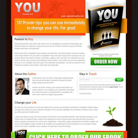buy landing page template e book landing page design templates exle to sale your