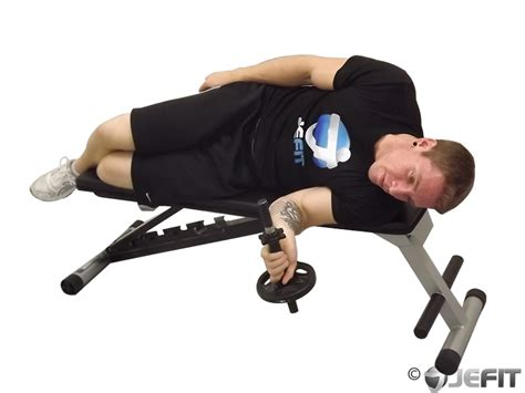 dumbbell lying pronation exercise database jefit