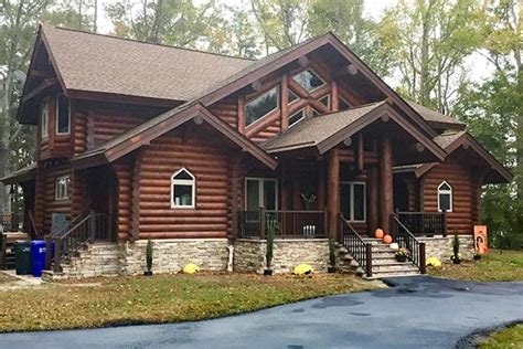 Log Cabin Builders In Virginia by Virginia Log Cabin And Timber Frame Homes By Precisioncraft