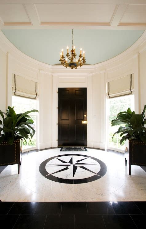 Circular Entryway | round foyer transitional entrance foyer margaux