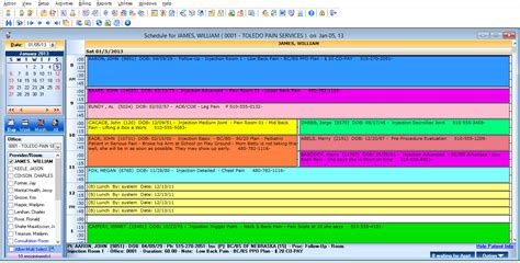 speech therapy scheduling software schedule template free