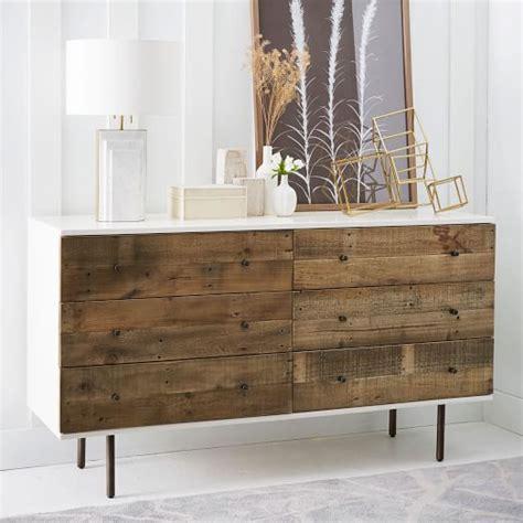 Reclaimed Dresser by Reclaimed Wood Lacquer 6 Drawer Dresser West Elm