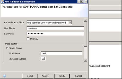 sap tutorial idt sap idt managing connections