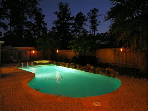 backyard night triyae com backyard pool at night various design