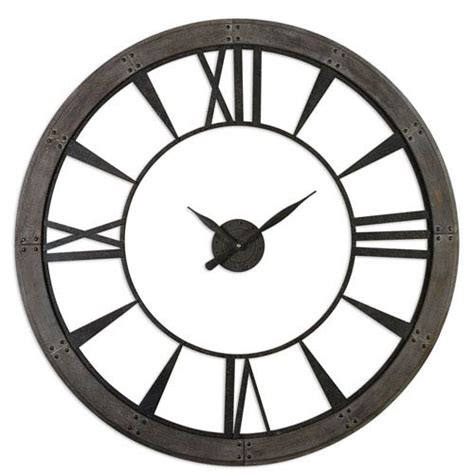 ronan dark rustic bronze large wall clock 06084 clocks on sale bellacor