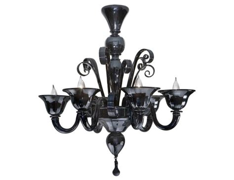 black glass chandeliers nella vetrina black murano 6 959 6 murano chandelier in black