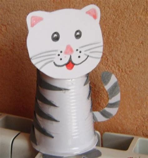 Paper Cup Craft Ideas - paper cup cat craft 171 preschool and homeschool