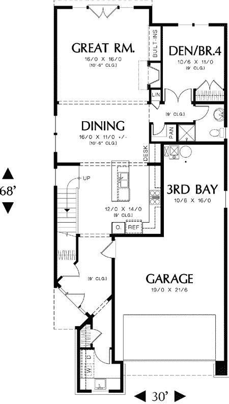 wide lot floor plans 12 best 30 ft wide images on pinterest cottage home