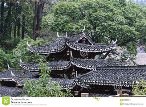 ancient green roofs ancient house roofs stock photo image of tile