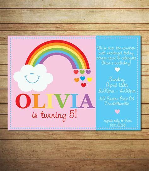 rainbow invitation card template 25 best ideas about rainbow invitations on