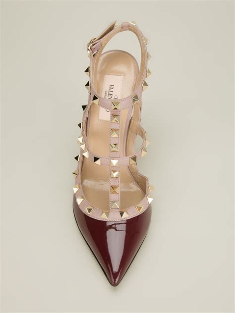 Valentino Studed valentino studded sandal in lyst