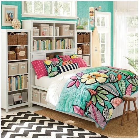 pbteen bedrooms spread freshness with floral quilts in your room